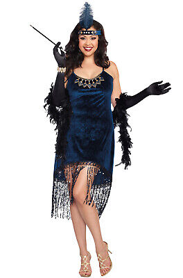 Brand New Flapper 1920's Gatsby Downtown Doll Plus Size Costume