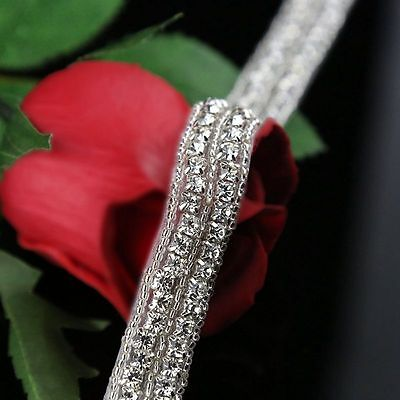 1 Yard Rhinestone Trim Crystal Rhinestone Applique for Bridal Wedding Sash Belt