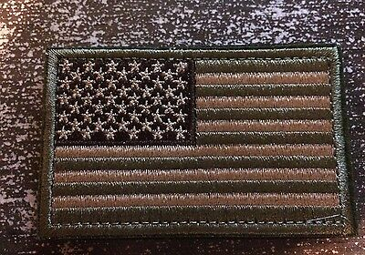 Usa American Flag Tactical Us Army Morale Military Badge Acu Light Velcro Patch
