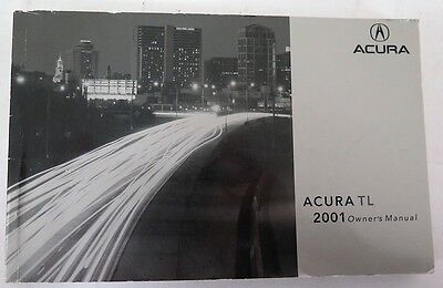 2001 Acura TL Owners Manual Guide Book