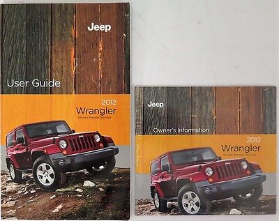 2012 Jeep Wrangler Owners Manual Guide Book