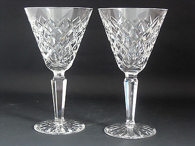 PAIR of Waterford Crystal 'Tyrone' Water / Large Wine Goblet. 7""