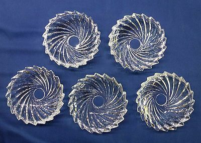 """GLASS BOBECHES for  CHANDELIER or CANDLE - SAW TOOTH  SET OF 5  -  5"""" DIAM"""