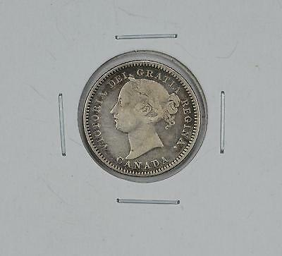 1881-H CANADA TEN CENTS 10c CANADIAN COIN