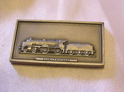 SOLID PEWTER INGOT of the CHELTENHAM LOCOMOTIVE