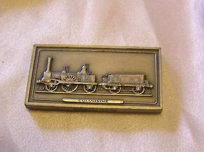 SOLID PEWTER INGOT of the COLUMBINE LOCOMOTIVE