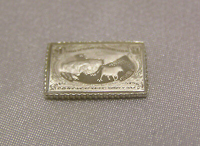 Solid Silver Stamp Usa 1898 Trans-Mississippi One Dollar United States America