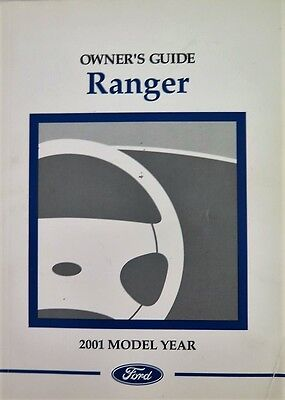 2001 Ford Ranger Owners Manual Guide Book