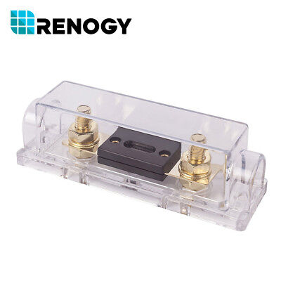 Renogy 100A High Quality In-Line ANL Fuse Holder w/ Fuse PV Solar System Fusing