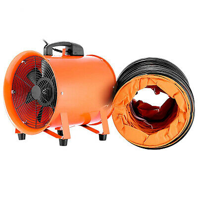 "10"" Industrial Extractor Fan Blower W/ Duct Hose Pivoting Chemical Ventilation"