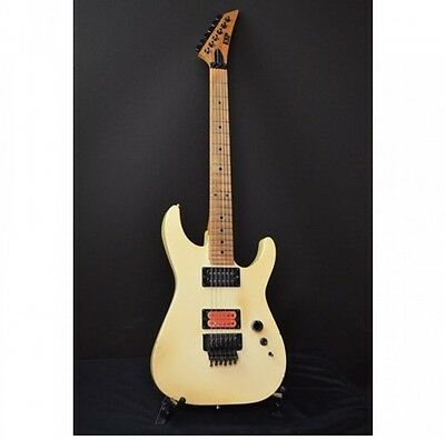ESP Order Made M Type White w/soft case Free shipping Guiter From JAPAN #A2623