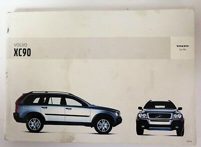 2004 Volvo XC90 Owners Manual Guide Book