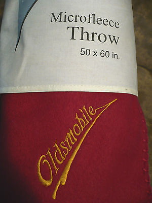 Oldsmobile Embroidered Fleece Blanket Throw  - 1949 1950 1951 1952 1952 1954