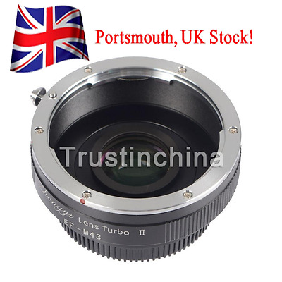 Zhongyi Focal Reducer Lens Turbo II Booster Canon EOS to Micro 4/3 Adapter OM-D