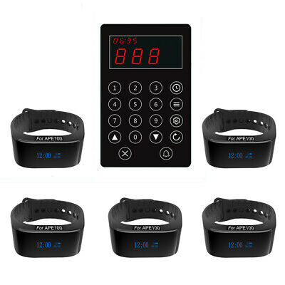 SINGCALL Wireless Paging Systems,Kitchen Calling Waiter,5 Waterproof Watches