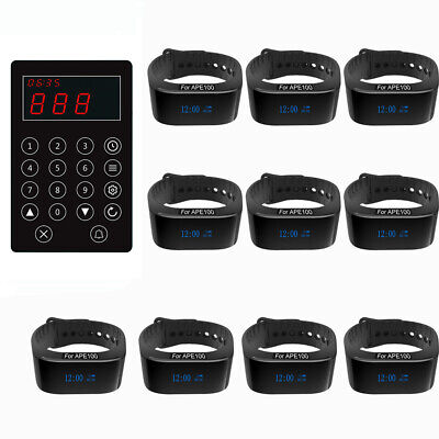 SINGCALL Wireless Paging Systems,Kitchen Calling Waiter, 10 Waterproof Watches