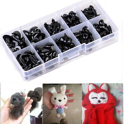 100pcs Black Plastic Safety Noses Triangle For Doll Teddy Puppet Kids Toy DIY