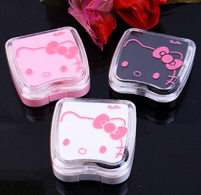 New Cute HelloKitty Design Contact Lens Case Soak Storage Cosmetic Box LM-D285