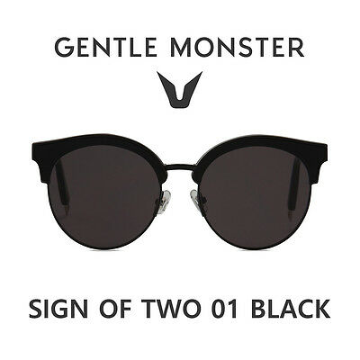 b741907d12ef 2018 NEW GENTLE MONSTER Authentic Sunglasses SIGN OF TWO 01 BLACK ...