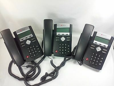 Lot of 3 Polycom IP 321 SoundPoint VoIP Business 2-Line Speaker Phones Working