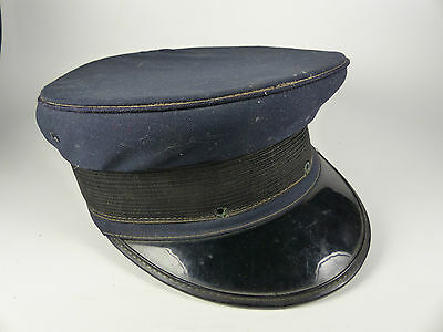US Police Blue Bell Crown Cap - 30/40er Jahre - Grossman Philadelphia USA