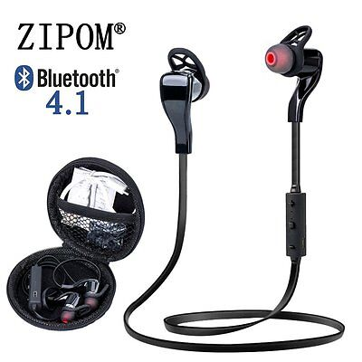 Bluetooth 4.1 Wireless Stereo Earphone Earbuds Sport Headset Headphone Black
