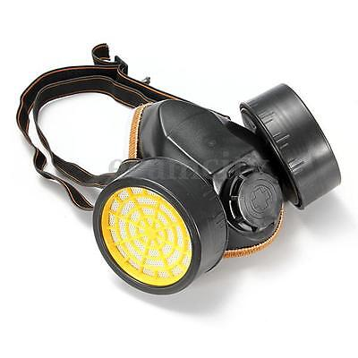 Dual Cartridge Anti-Dust Chemical Paint Spray Respirator Gas Safety Face Mask