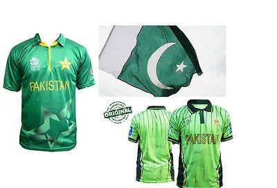 Pakistan Cricket Official T-shirt World cup Worldcup Melbourne Flag Jersey Top