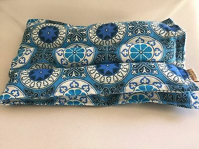 rice flax heat pad hot /cold shoulder neck wrap pack Bag herbal BLUE PRINT