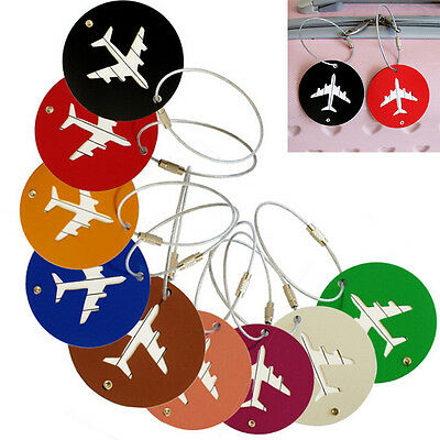 Metal Funky Travel Luggage Label Straps Suitcase Name ID Address Luggage Tags
