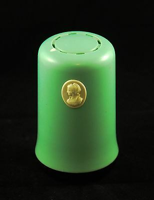 Art Deco Vintage Light Green Cameo Cleanser Can Holder