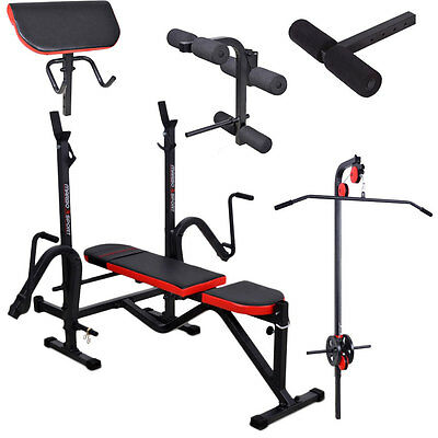 Banc + Equipement Mh-Z130 Marbo-Sport Poste Multi Gym Home Musculation Station