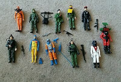 Vintage Action Force Figure Collection with accessories and weapons (11 figures)