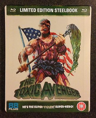 THE TOXIC AVENGER Blu-Ray SteelBook Zavvi UK 88 Films Region ABC 1/2500 OOP Rare