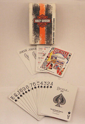 Harley Davidson Bicycle Motor Cycles Skid Mark Collectible Playing Deck Cards