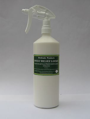 Biteback Horse SWEET RELIEF™ Lotion, Sweet Itch Midge Repellent SPRAY, 1 Litre