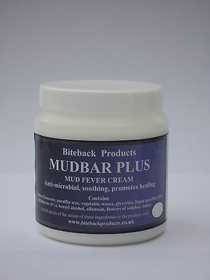 Biteback Horse MUDBAR PLUS™ Skin Healing Cream with SILVER, for Mud Fever 250g