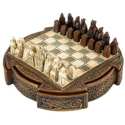The Regency Chess Company Ltd, England Isle Of Lewis Compact Celtic Chess Set 9