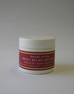Biteback Dog SWEET RELIEF Cream, Soothes Itchy Dry Skin, Flea Repellent 50g