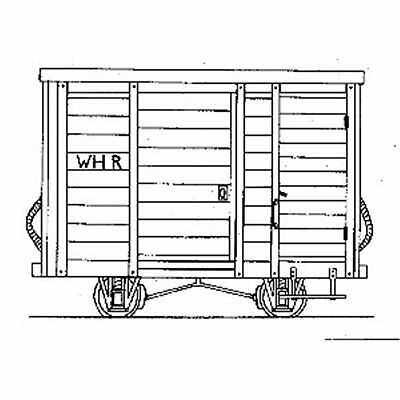 OO9 WHR 4-Wheel Goods Brake Van - Dundas DM50 - free post