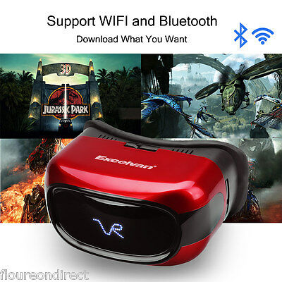 All-in-One VR Headset HD 3D VR Glasses Android 5.1 Quad Core 8GB Support WIFI TF