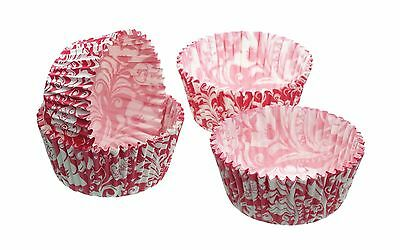 Pack of Eighty Pink Floral Mini Cake Cases