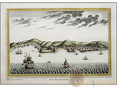 Vue de Cananor The walled city Kochi India by Bellin 1753