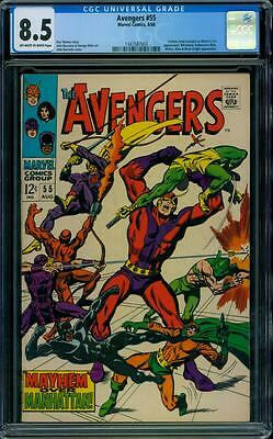 Avengers 55 CGC 8.5 - Off-White to White Pages - 1st Ultron