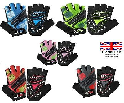 Cycling Gloves Half Finger Gel Palm Silicone Sports, Gym, Bicycle, outdoor Work