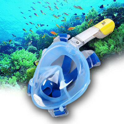 Anti Fog Dry Snorkeling Full Face Mask Detachable for GoPro Camera Scuba Diving
