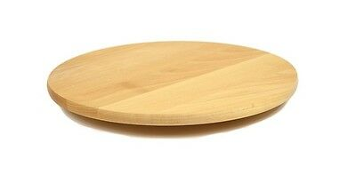 Rotating Wooden Tray Round Lazy Susan Big 40 cm Serving Solid Plate Pizza Board