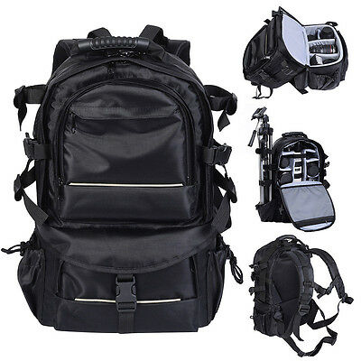 Multifunctional Deluxe Camera Backpack Bag Case Sony Canon Nikon DSLR Black KN
