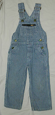 Unisex Classic LIBERTY Brand Striped Railroad Overalls size 3 Regular / 22x13