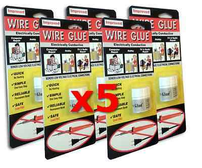 5x Highly Conductive Wire Glue / Paint for AC/DC - NO Soldering Iron - FREE POST
